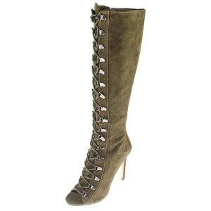 STEVE MADDEN | Kinnon Lace Up Knee High Boots